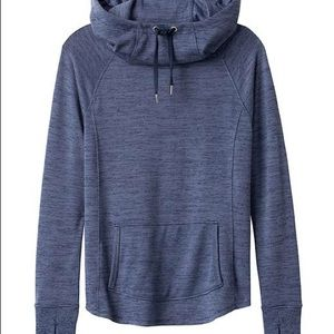 Athleta techie sweat hoodie blue Large